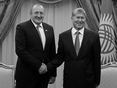 Президент Грузии принял коллегу изКиргизии